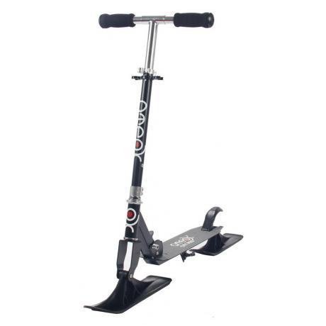 Самокат ATEOX CITY PRO с лыжами и колесами (черный)