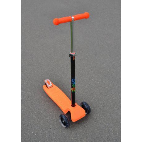 Самокат ATEOX с ручкой (оранжевый)
