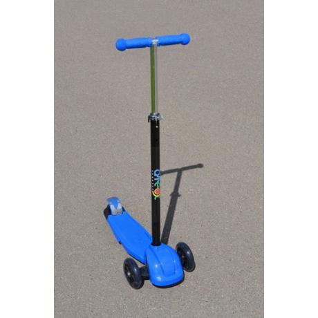 Самокат трехколесный ATEOX с телескопическим рулем (синий)