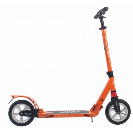 Самокат для взрослых ATEOX PRIME 300 с надувными колесами (оранжевый)
