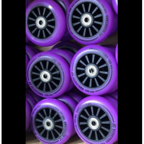 Колесо 100 мм AT Scooters для трюкового самоката фиолетовое PU