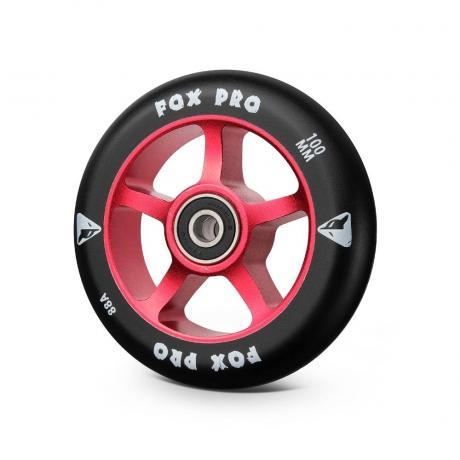 Колесо 5ST 100 мм разбор (красный-черный)
