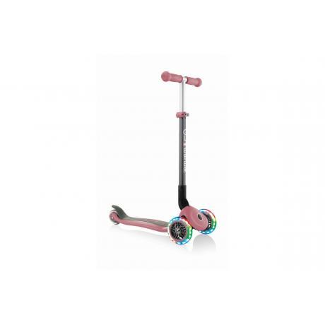 Самокат Globber Primo Foldable Lights пастельно-розовый