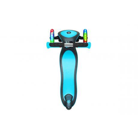 Самокат Globber Elite Deluxe Lights голубой