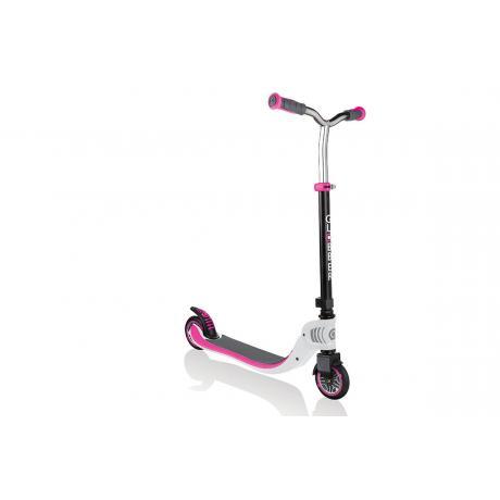 Самокат Globber Foldable Flow 125 бело-розовый