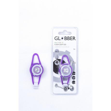 Светодиодный фонарь Globber Flash Lights Led фиолетовый
