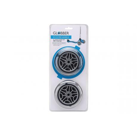 Комплект колес для самокатов Globber 125 mm прозрачный