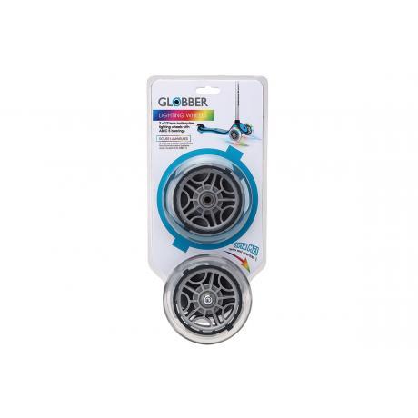 Комплект светящихся колес для самокатов Globber 125 mm прозрачный
