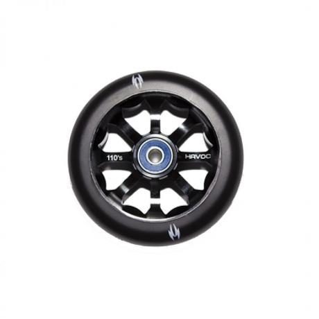 Колесо 110 мм, лучевой диск, черное
