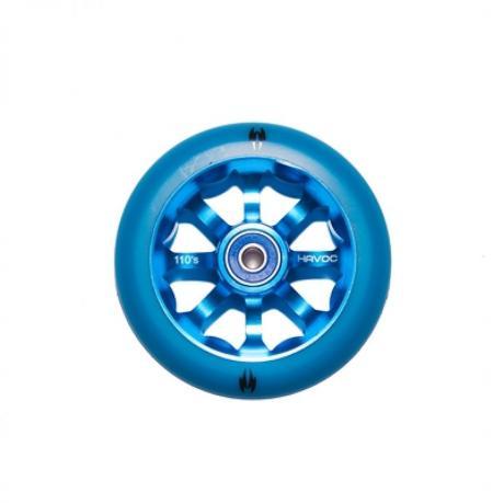 Колесо 110 мм, лучевой диск, синее