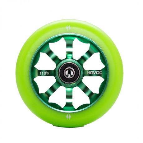 Колесо 110 мм, лучевой диск, зеленое