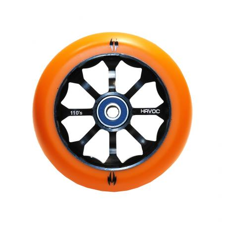 Колесо 110 мм, лучевой диск, оранжевое