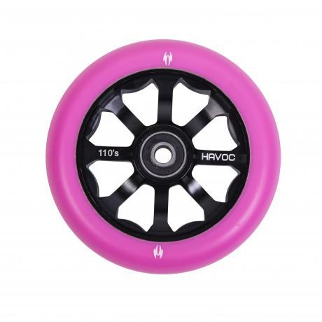 Колесо 110 мм, лучевой диск, розовое