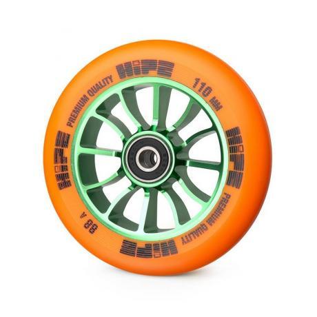 Колесо HIPE 01 110 mm Зеленый/оранжевый