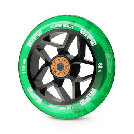 Колесо HIPE H01A 110мм black/transparent green