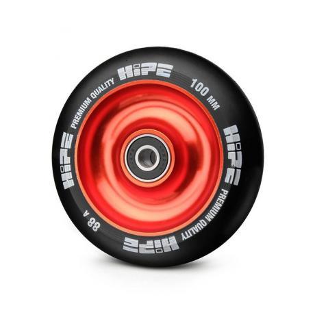 Колесо HIPE Solid  100 mm Красный/черный