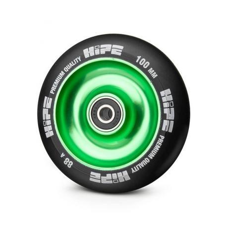 Колесо HIPE Solid  100 mm Зеленый/черный