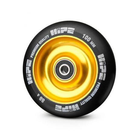 Колесо HIPE Solid  100 mm Золотой/черный