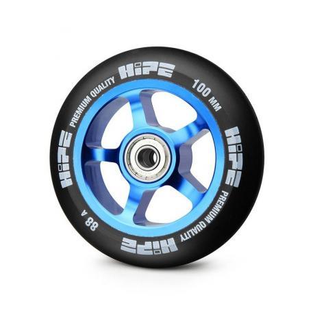 Колесо HIPE 5-Spoke  100 mm Синий/черный