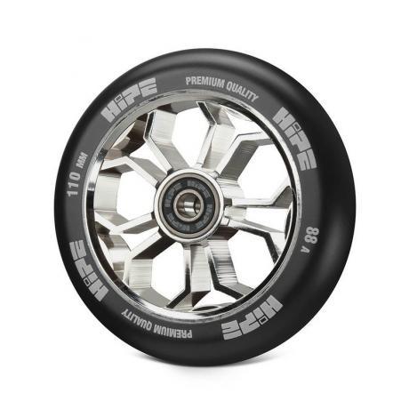 Колесо HIPE 01 light  110 mm Серебро/черный