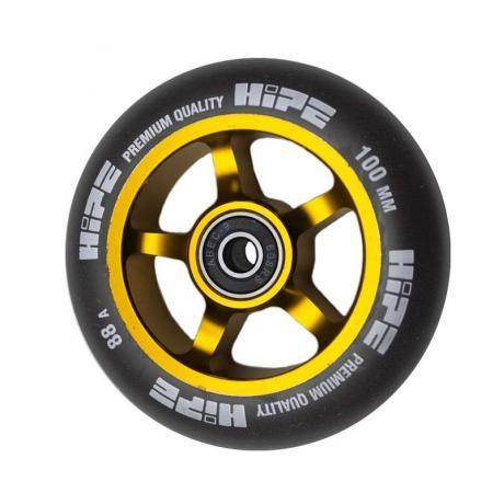 Колесо HIPE 5-Spoke  100 mm Золотой/черный