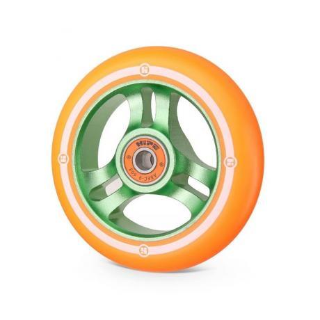 Колесо Hipe 3W 100 мм  зеленый/оранжевый