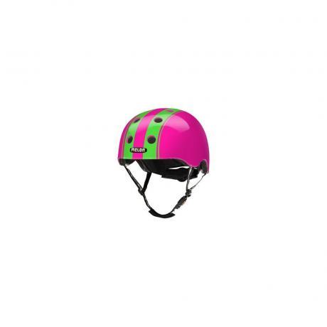 S024G Шлем Melon Double Green Pink XL-XXL 58-63