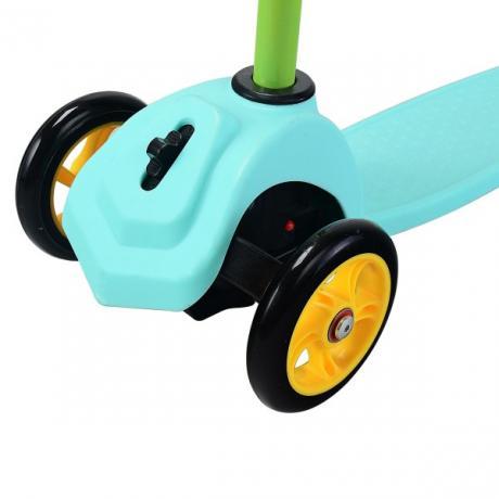 Мини самокат с блокировкой колес (зеленый)