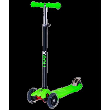 Самокат 3-колесный Snappy 3D, 120/80 мм, зеленый
