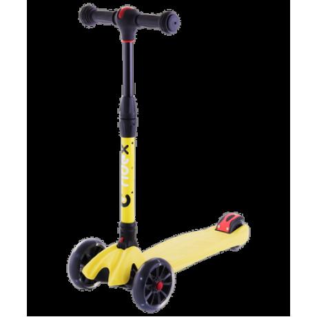 Самокат 3-колесный Stark 3D, 135/90 мм, желтый