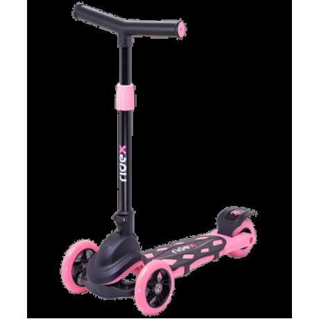 Самокат 3-колесный Robin 3D 120/90 мм, розовый