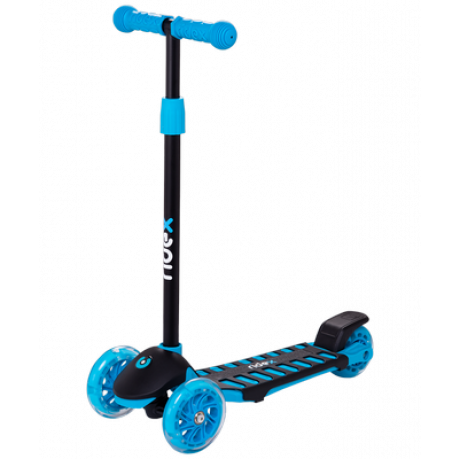 Самокат 3-колесный Spike 3D 120/100 мм, синий