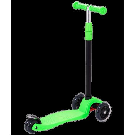 Самокат 3-колесный Snappy 2.0 3D 120/80 мм, зеленый