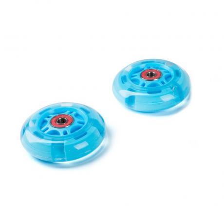 Светящиеся колеса задние голубые 80 мм (2 шт.)