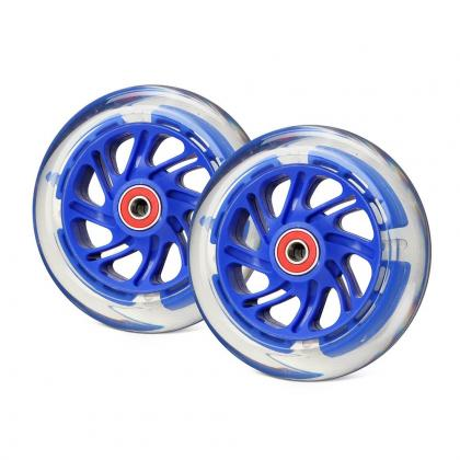 Светящиеся колеса передние темно-синие 120 мм (2 шт.) 120х30 мм под модель Maxi