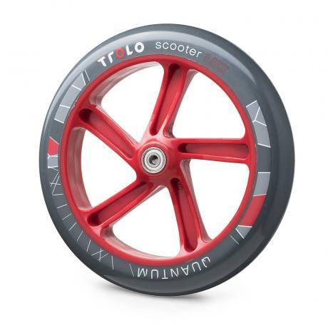 Колесо с подш. Trolo Quantum 230 мм  серый/красный