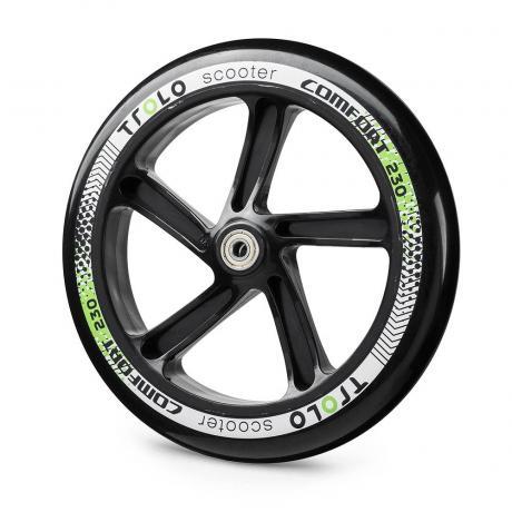 Колесо с подш. Trolo Comfort 230 черный/зеленый
