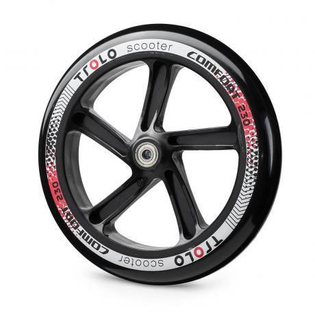 Колесо с подш. Trolo Comfort 230  черный/красный