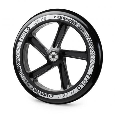 Колесо с подш. Trolo Comfort 230  черный/серый