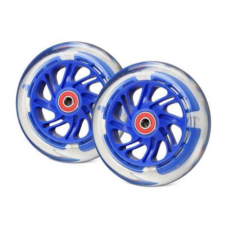 Светящиеся колеса передние темно-синие 120 мм (2 шт.) 120х24 мм под модель Mini